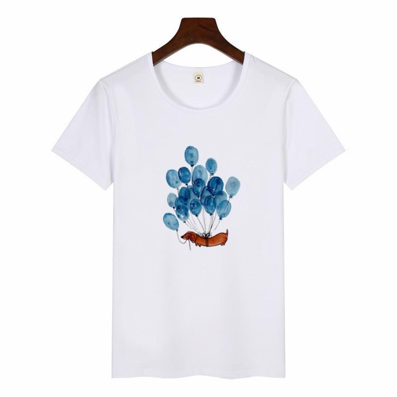 Dachshund Pug Teckel Funny T Shirts Women Harajuku Cute French Bulldog Frances T-shirt Top Female Tumblr Streetwear