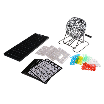 Mini Bingo loteria maszyna remis zestaw gier z piłkami karty na imprezę strona główna Pub rozrywka Lucky Balls gra świąteczny prezent tanie i dobre opinie MagiDeal Draw Game Set