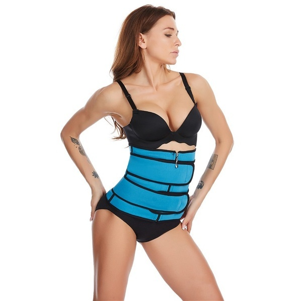 Women Waist Trainer Corset Neoprene Sweat Belt Tummy Slimming Sport Shapewear Breathable Belly Fitness Modeling Strap Shaper 3