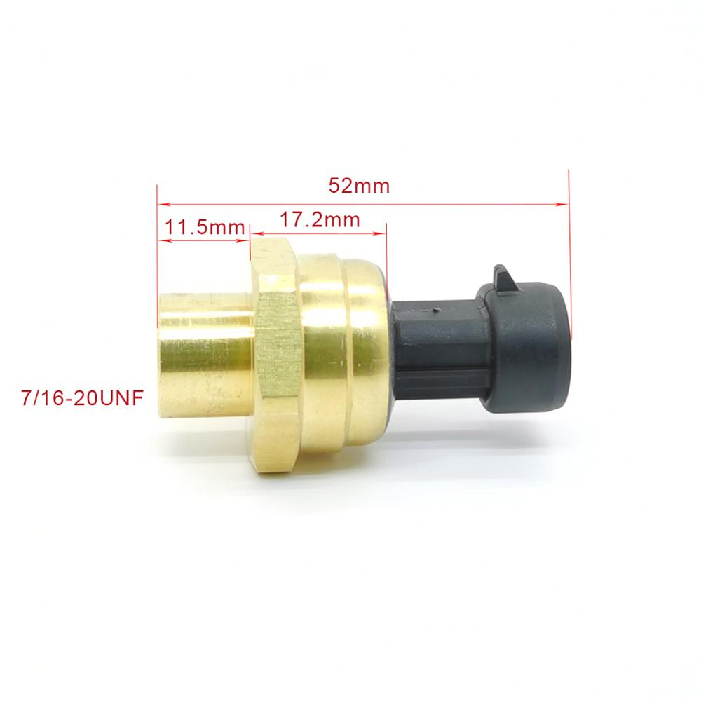 Air Conditioning Refrigeration Pressure Transmitter Refrigerant Pressure Sensor Heat Pump Heat 5-12V 0.5-4.5V 7/16-20UNF Copper