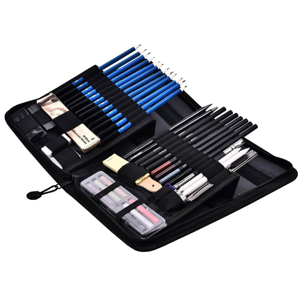 48 Pcs Sketching Pencils Professional Sketching Drawing Pencils Kit Set Art School Students Supplies-in Art Sets from Office & School Supplies