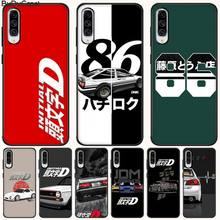 Hot Japan initial D anime TPU black Phone Case Cover Hull For Samsung A10 20 30 40 50 70 10S 20S 2 Core C8 A30S A50S A7 8 9 цена 2017