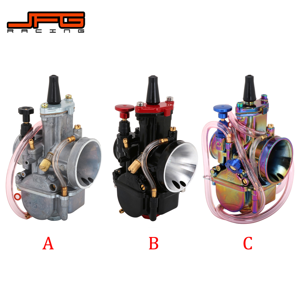 Motorcycle Universal For <font><b>PWK</b></font> 21 24 26 28 30 32 <font><b>34</b></font> MM <font><b>Carburetor</b></font> Carburador With Power Jet For Keihin Mikuni YAMAHA HONDA Scooter image