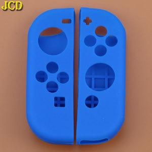 Image 4 - JCD 1 مجموعة مكافحة زلة سيليكون لينة حالة ل التبديل NS الغطاء الواقي الجلد ل Nintend التبديل الفرح يخدع تحكم التبعي