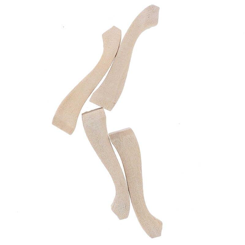 4 قطع مجموعة أرجل طاولة خشبية ل 1/12 دمية مصغرة الديكور Making بها بنفسك صنع ملحق