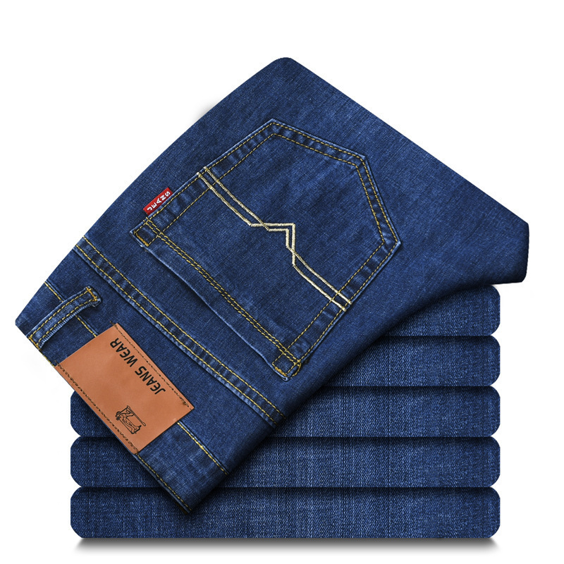 Spring And Autumn New Style Elasticity Straight-Cut Jeans Men Business Men's 009 #