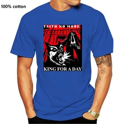 T Shirt Mens Fashion Men Faith No More King For A Day 1995 Dog Album Cover Inspired Black T Shirt