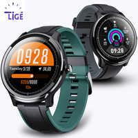 LIGE New Smart Watch Full Touch Screen IP68 Waterproof Heart Rate Blood Pressure Monitor Sport smartwatch information reminder