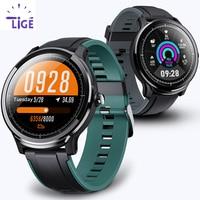 Lige novo relógio inteligente tela sensível ao toque completo ip68 à prova dip68 água freqüência cardíaca monitor de pressão arterial esporte smartwatch informações lembrete