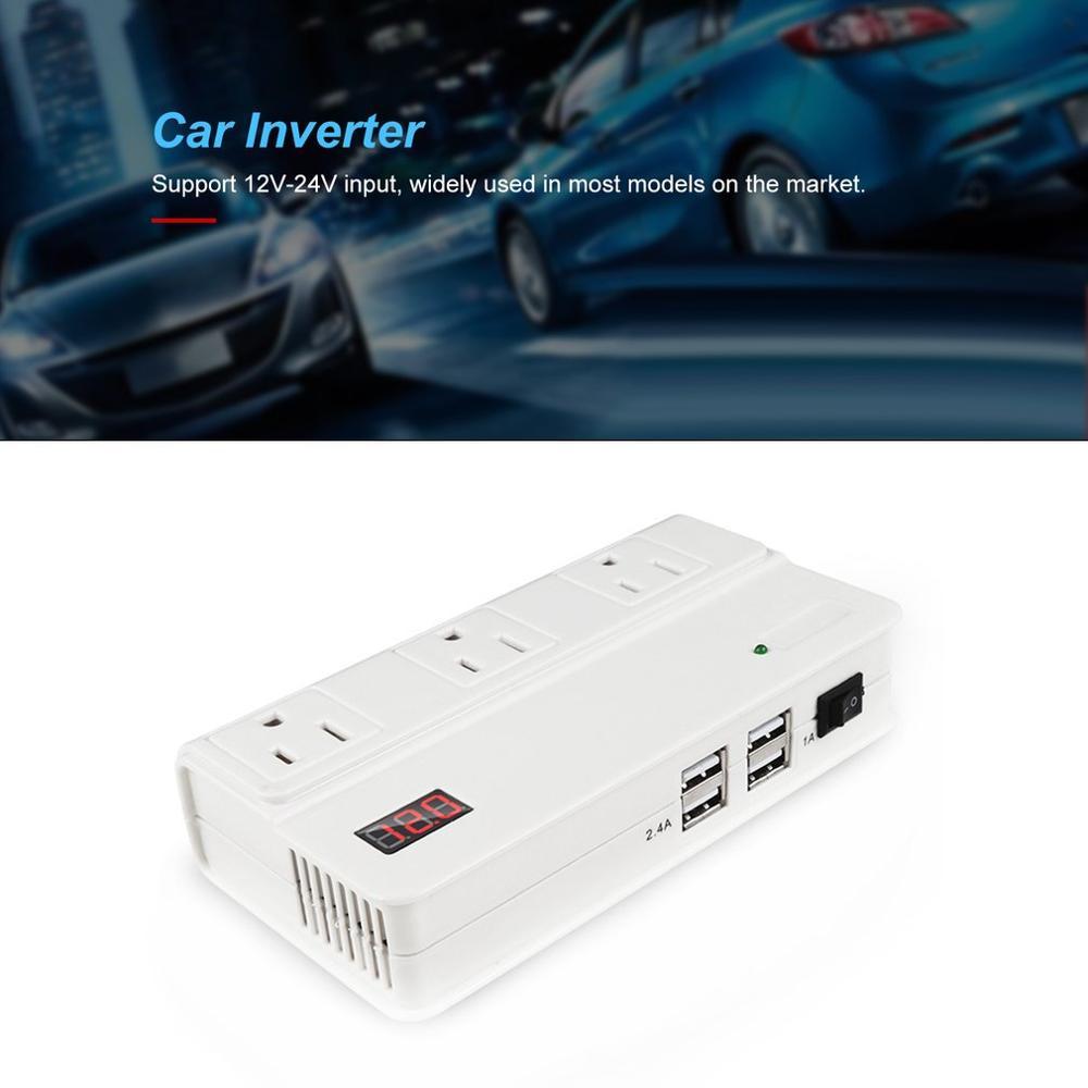 Hohe Qualität Auto Power Inverter 24V zu 220V 200W White Power Converter Multi-funktion Auto Buchse auto Inverter