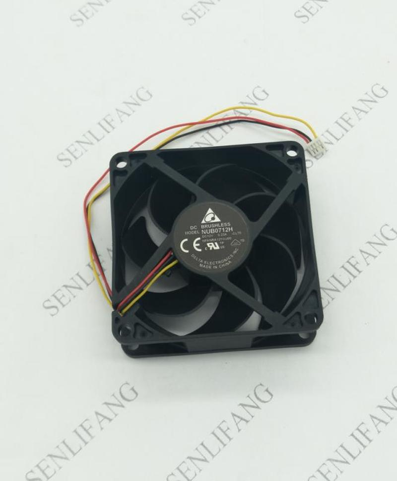 For Delta Electronic NUB0712H R00 Server Cooler Fan DC 12V 0.23A 70x70x25mm 3-wire