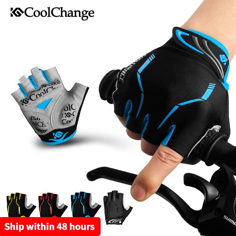 Cycling Gloves Half Finger Mens Women/'s Summer Sports Shockproof Bike Gloves