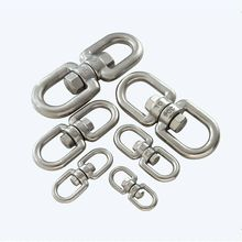 Swivel-Ring Eye-Snap Double-Ended Chain-Hook-Connector Heavy-Duty 304-Stainless-Steel