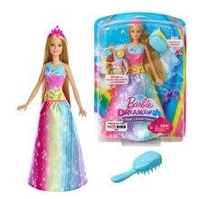 Original Barbie Doll Rainbow Rapunzel Girls Toys for Children's Birthday Present FRB12