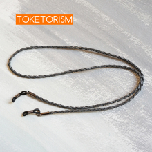 Toketorism artificial leather woven rope glasses chains for women and men sunglasses strap TM30