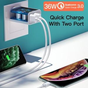 Image 3 - 36W podwójna ładowarka USB szybkie ładowanie 3.0 typ C PD szybkie ładowanie dla iPhone 12 11 Xiaomi USB C ładowarka QC3.0 ładowarka do telefonu