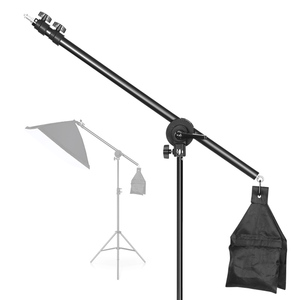 Image 4 - 스튜디오 사진 비디오 용 2m 라이트 스탠드 샌드백이있는 회전식 알루미늄 조절 식 삼각대 붐