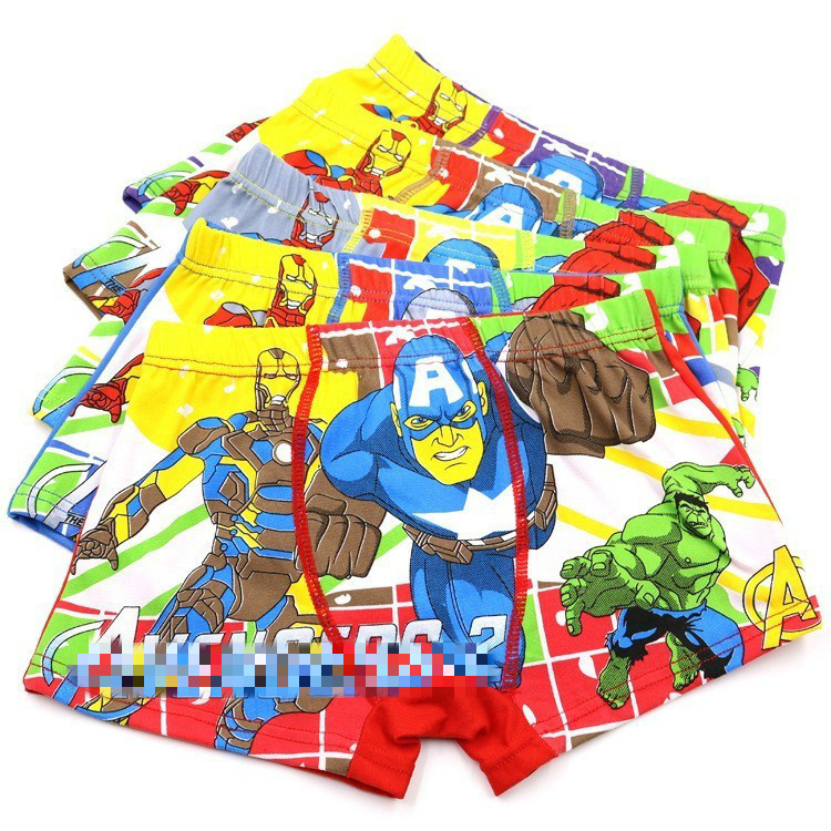 5 Pieces/Lot Boys Underpants Boxers Underwear Children Cartoon Superman 3-11 Years Kids Boys Panties Panty Baby Girl Clothes