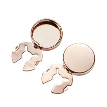 Cufflinks-Caps Business Shirt Buttons-Accessories Jewelry Gifts Men's Round Four-Color