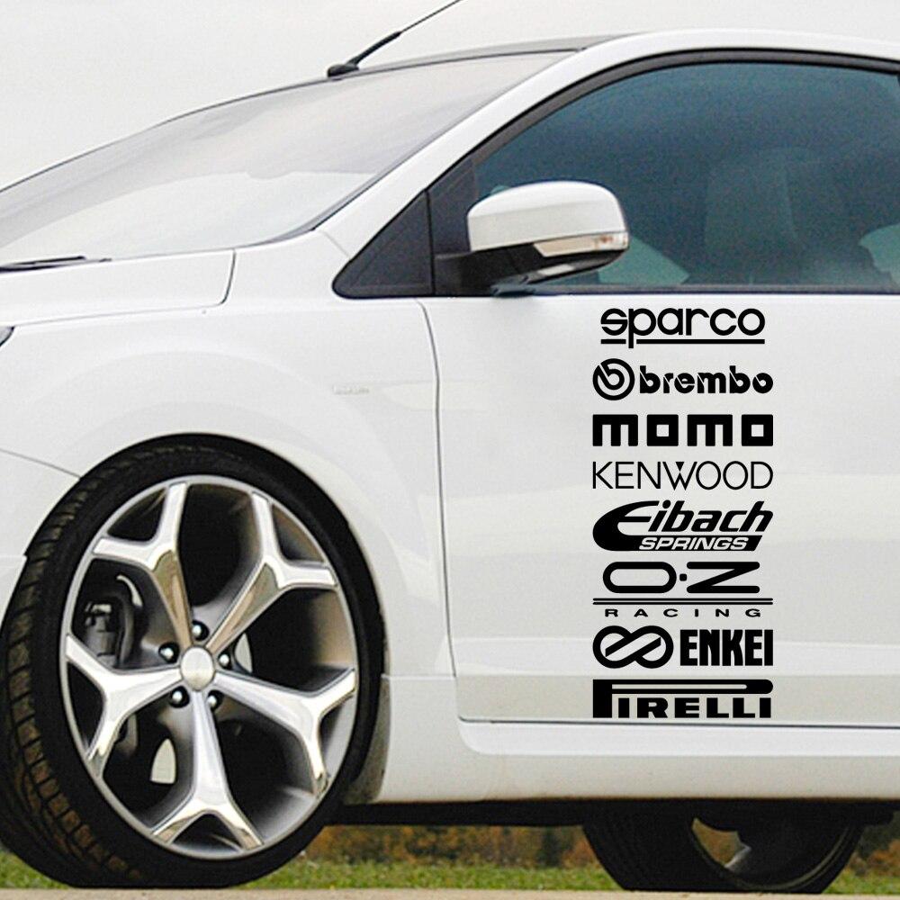 Car Body Sparco Sentence Auto Sticker For Truck Window Bumper Auto Suv Door Laptop Kayak Vinyl Decal
