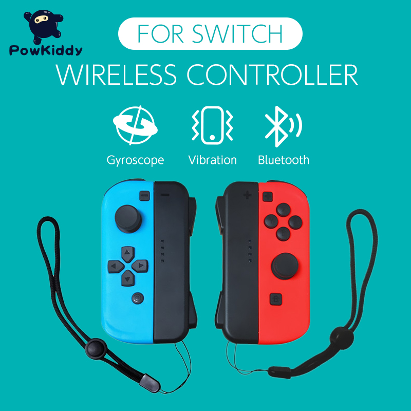 POWKIDDY 2pcs/Set Game Controller Handle For Switch Host Joy Gamepad Console Joy Dpad Gamepad Video Game USB Joystick Control 2