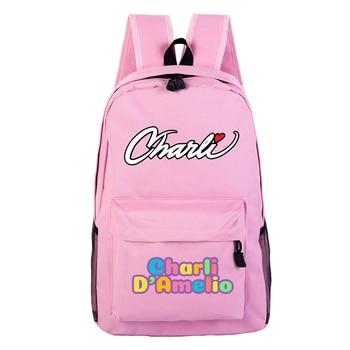 School Bags for Teenage Girls Charli Damelio Backpack Women Mochilas Escolares Bookbag Laptop Back Pack Men Kawaii Backpack Kids 18