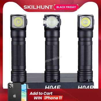 جديد Skilhunt H04 H04R H04F مصباح ليد جيب اثنين مخصص UI كري XML1200Lm مضيا الصيد الصيد التخييم ضوء فلاش عقال