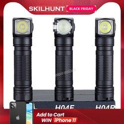 Neue Skilhunt H04 H04R H04F Led taschenlampe Zwei Angepasst UI Cree XML1200Lm taschenlampe Jagd Angeln Camping flashligh + Stirnband