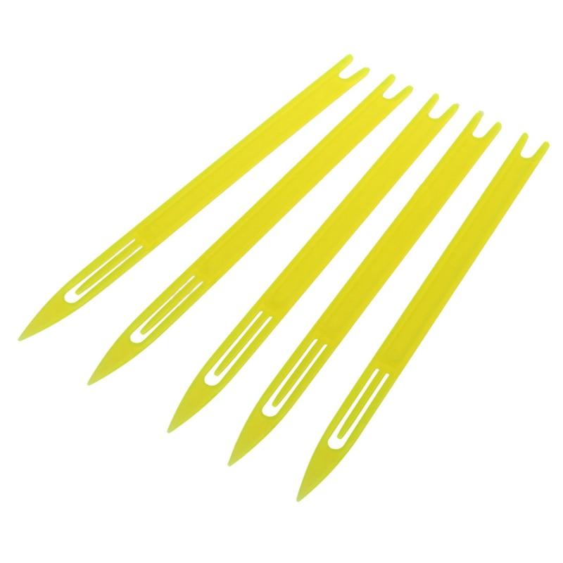 Fishing Line Plastic Repair Netting Needle Shuttles Various Sizes Yellow Durable Size:3#,4#,5#,6#,7#,8#,9#