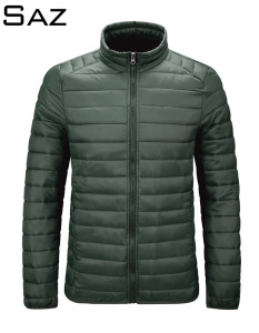 Saz Down Jacket Men Winter Portability Warm Down Man Coat