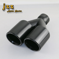 JZZ COZMA 1piece high quality Dual car tail pipe exhaust silencer Stainless Steel Muffler exhaust pipe for a4