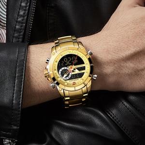 Image 5 - Top Luxury ยี่ห้อ NAVIFORCE 2019 ผู้ชายใหม่กีฬานาฬิกาข้อมือควอตซ์นาฬิกาผู้ชายกันน้ำแบบ Dual นาฬิกาวันที่ Relogio Masculino