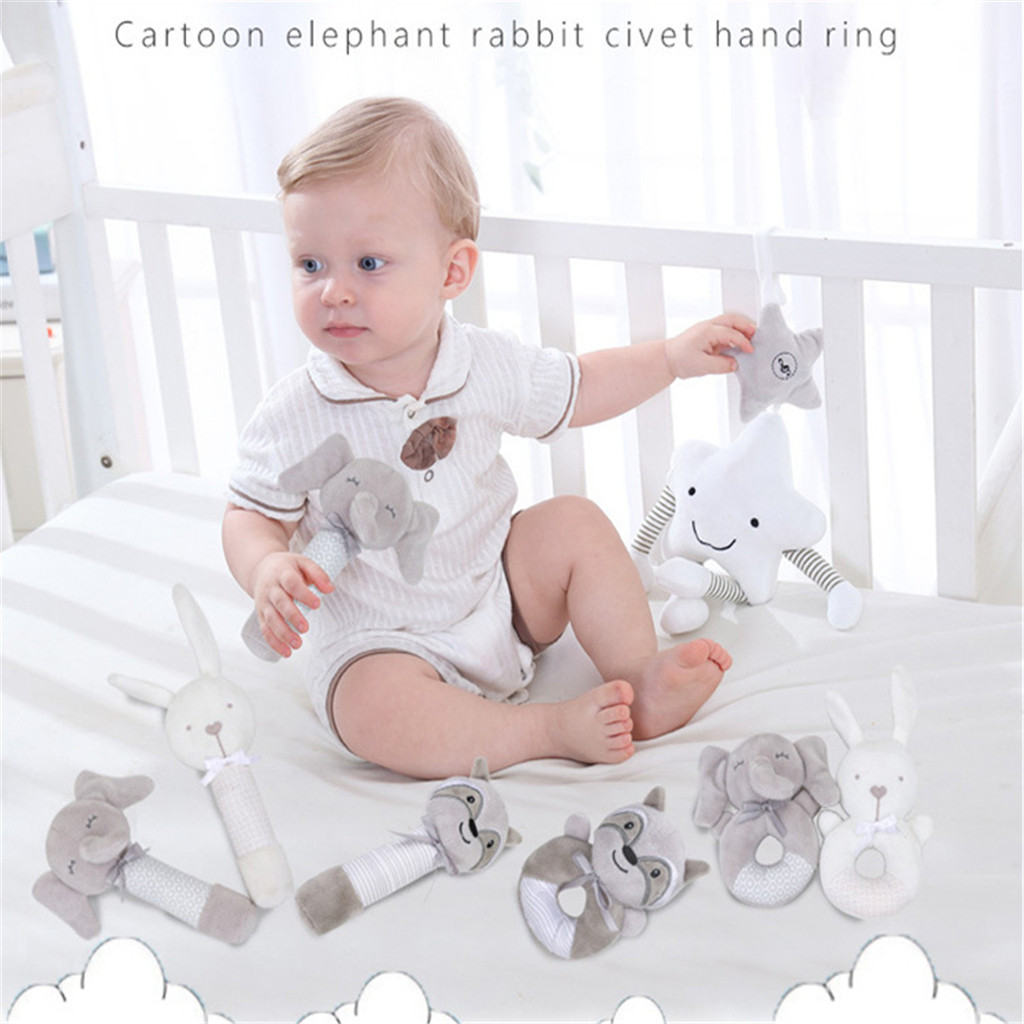 Baby Infant Animals Hand Bells Soft Hanging Bell Toys Rattle Bed Kids Play Sleep Aid Toy Brinquedos Juguetes Kids Toys игрушки