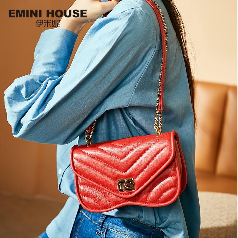 EMINI maison mode chaîne sac à bandoulière sacs pour femmes en cuir véritable sac à bandoulière luxe sacs à main femmes sacs Designer