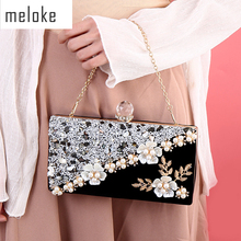 2020 high quality women diamond patchwork evening bags handmade flowers wedding dinner bags drop shipping MN834