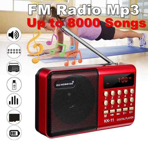 Acekool K11 Fm Oplaadbare Mini Draagbare Radio Handheld Digitale Fm Usb Tf MP3 Player Speaker Fm Radio Speaker R60