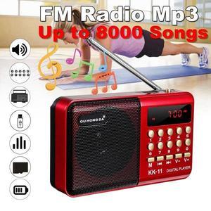acekool K11 FM Rechargeable Mini Portable Radio Handheld Digital FM USB TF MP3 Player Speaker FM Radio Speaker r60