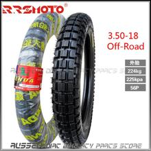 3.50 18 Off road Outer Tire and inner tube for Dirt pit bike Motorcycle motocross