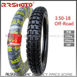 3.50-18 Off-road Outer Tire and inner tube for Dirt pit bike Motorcycle motocross