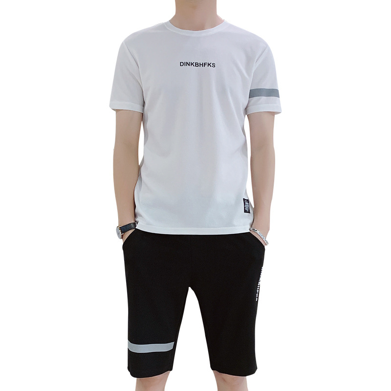 Summer Short Sleeve T-shirt Boy Sports Leisure Suit Teenager Junior High School Students Half-sleeve Shirt Popular Brand T-shirt