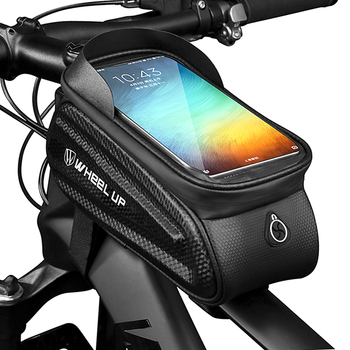 Bicycle Top Tube Bag 6.5 Reflective Rainproof Touch Screen Phone Case Bag Bike Bag Cycling Accessories With Sun Visor cbr outdoor cycling bike touch screen top tube bag black grey