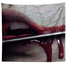 Tapestries Scary Blood Halloween Wall Hanging Tapestry Carpet Party Wall Cloth