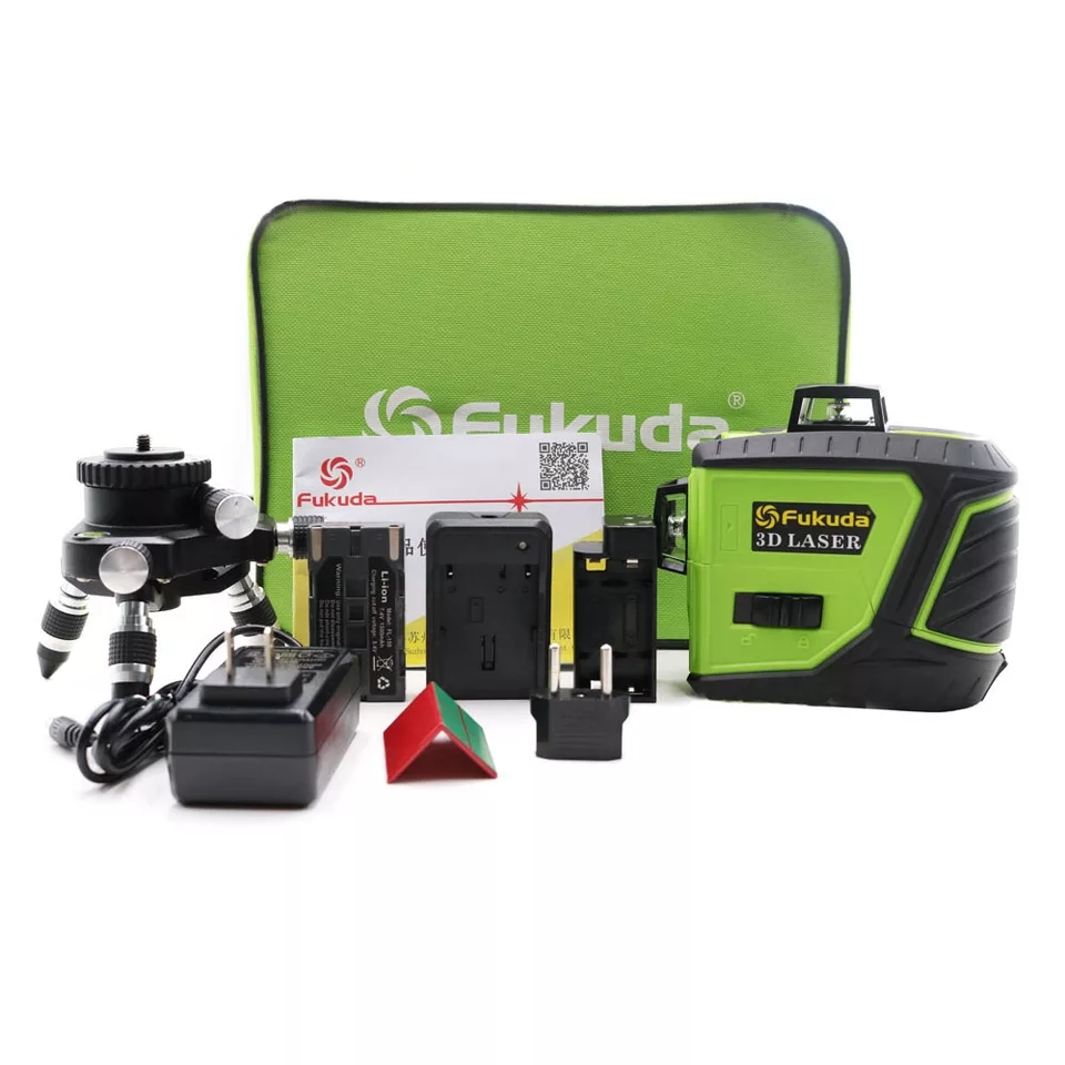 Fukuda 93T-3GX Sharp LD 515NM 12-line green super laser 360° rotatable laser spirit level vertical horizontal cross light