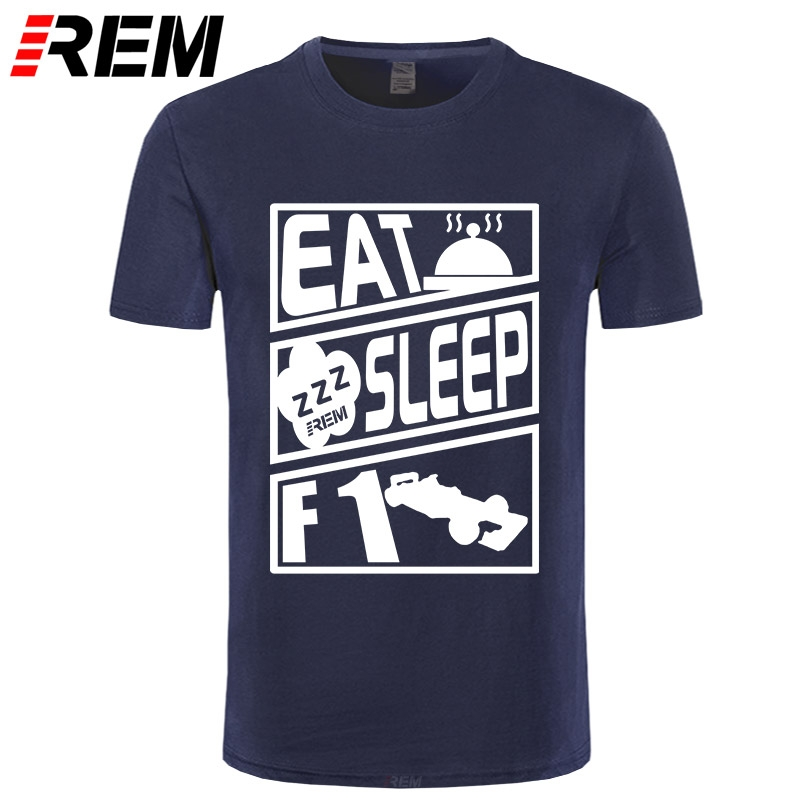 Mens EAT SLEEP WATCH <font><b>F1</b></font> Car <font><b>T</b></font> <font><b>shirt</b></font> - Formula One Grand Prix <font><b>T</b></font>-<font><b>Shirt</b></font> Men <font><b>T</b></font>-<font><b>shirt</b></font> Short sleeve O-Neck Fashion <font><b>T</b></font> <font><b>shirt</b></font> image