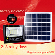 Foco Led Exterior Solar Spotlight 65W 45W 25W 120w Aluminum Charging Display Solar Light with Remote Control