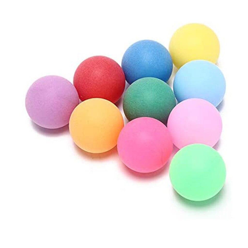 25 pièces/pack balles de Ping-Pong colorées 40mm divertissement balles de Ping-Pong couleurs mélangées pour le jeu et l'activité mélanger la couleur