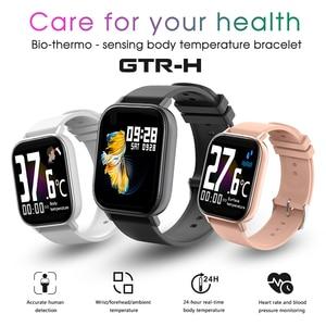 Новые GTR H Смарт-часы для мужчин и женщин монитор сердечного ритма артериального давления фитнес-трекер Смарт-браслет водонепроницаемые спо...