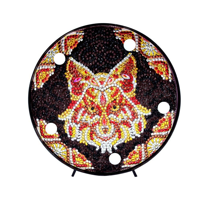 Diy Diamond Painting Wolf Pattern Night Light Full Diamond Cross Stitch Embroidery Painting Home Children Bedroom Decoration