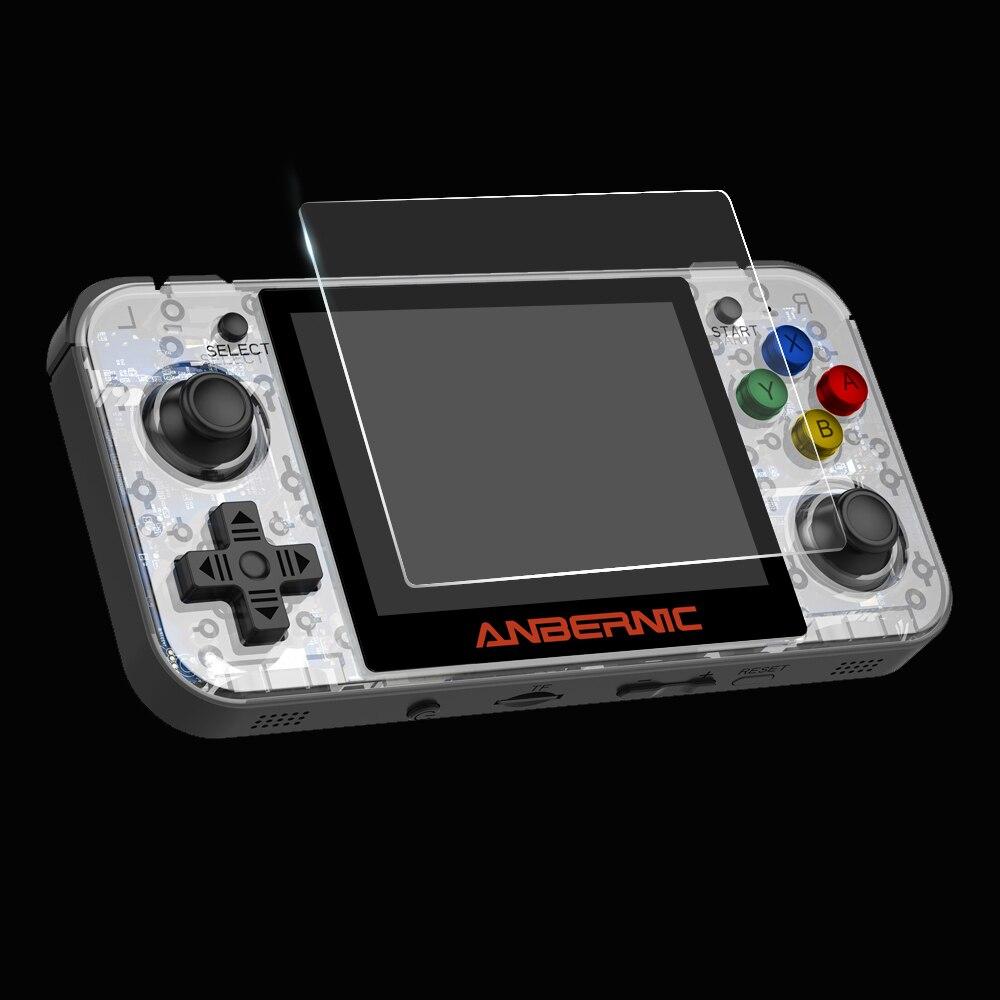 Filme de vidro temperado para rg350 rg350m/pocketgo s30 retro game console