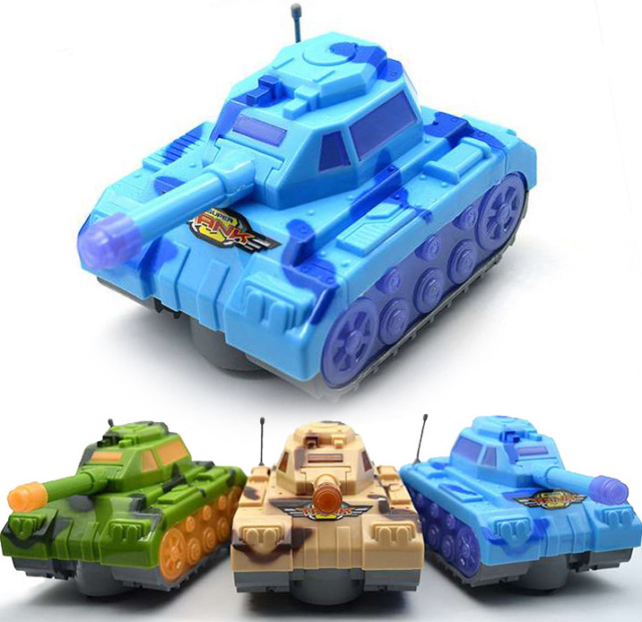 Shining Electric Universal Tank Model Children Military Model Toy Car Stall Supply Of Goods